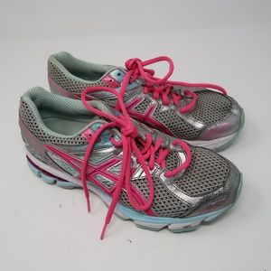 Womens Pink Gray Asics GT-1000 Size 8